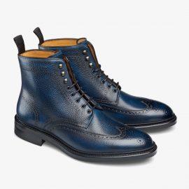 Carlos Santos Gladiator 8922 navy brogue boots