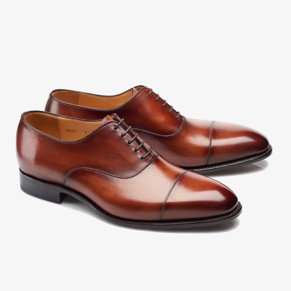 Carlos Santos Harold 8627 brown toe cap oxford shoes