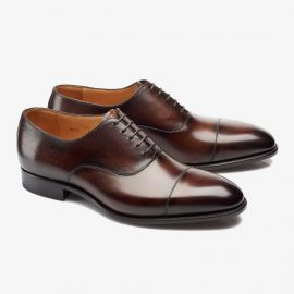 Carlos Santos Harold 8627 dark brown toe cap oxford shoes