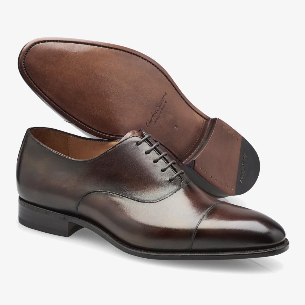 Carlos Santos Harold 8627 dark brown toe cap oxford shoes