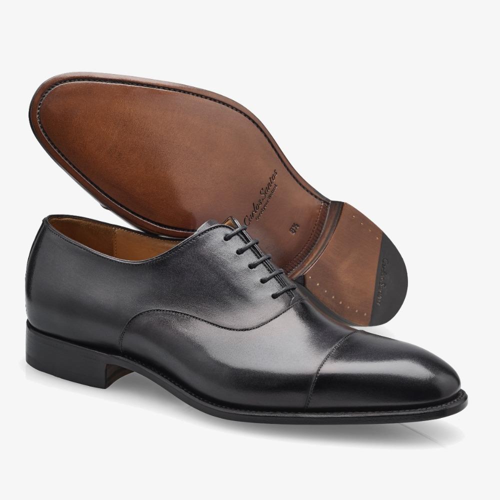 Carlos Santos Harold 8627 black toe cap oxford shoes