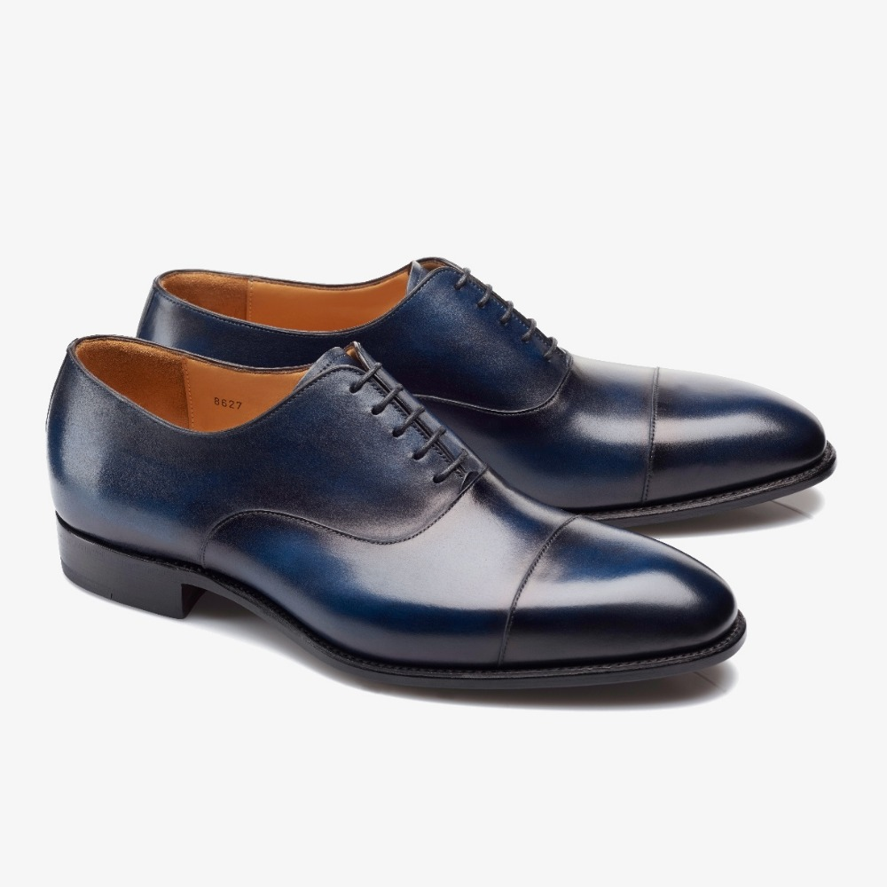 Carlos Santos Harold 8627 navy toe cap oxford shoes