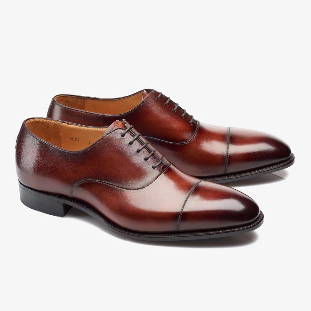Carlos Santos Harold 8627 red toe cap oxford shoes
