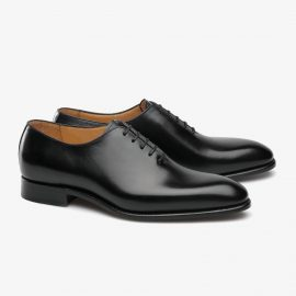Carlos Santos William black wholecut oxford shoes