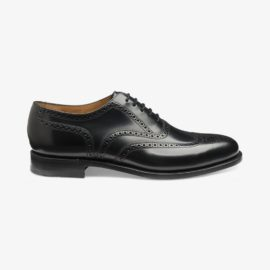Loake 202 black polished leather brogue oxford shoes