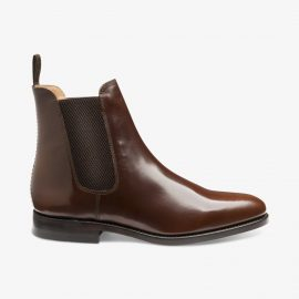 Loake 290 polished leather brown Chelsea boots