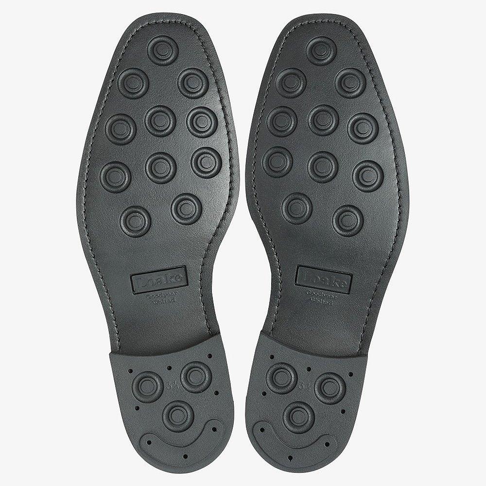 Loake 302 polished leather black brogue oxford shoes