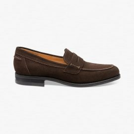 Loake 356 suede dark brown penny loafers