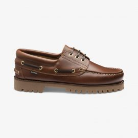 Loake 522 brown boat deck shoes