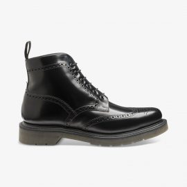 Loake 625 polished leather black brogue boots