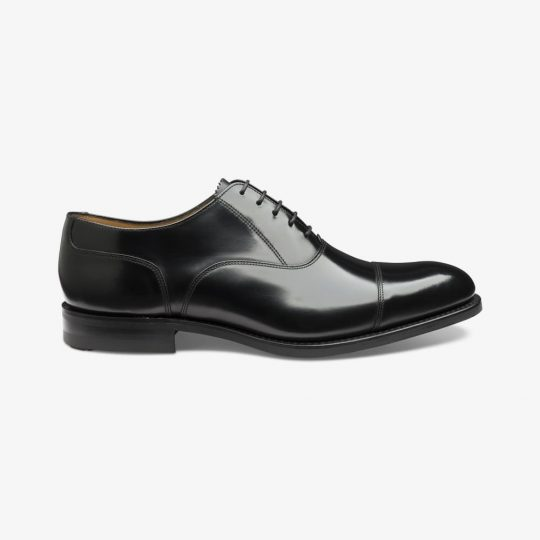 Loake 806 black toe cap oxford shoes