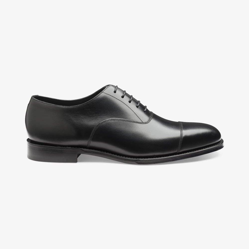 Loake Aldwych black toe cap oxford shoes