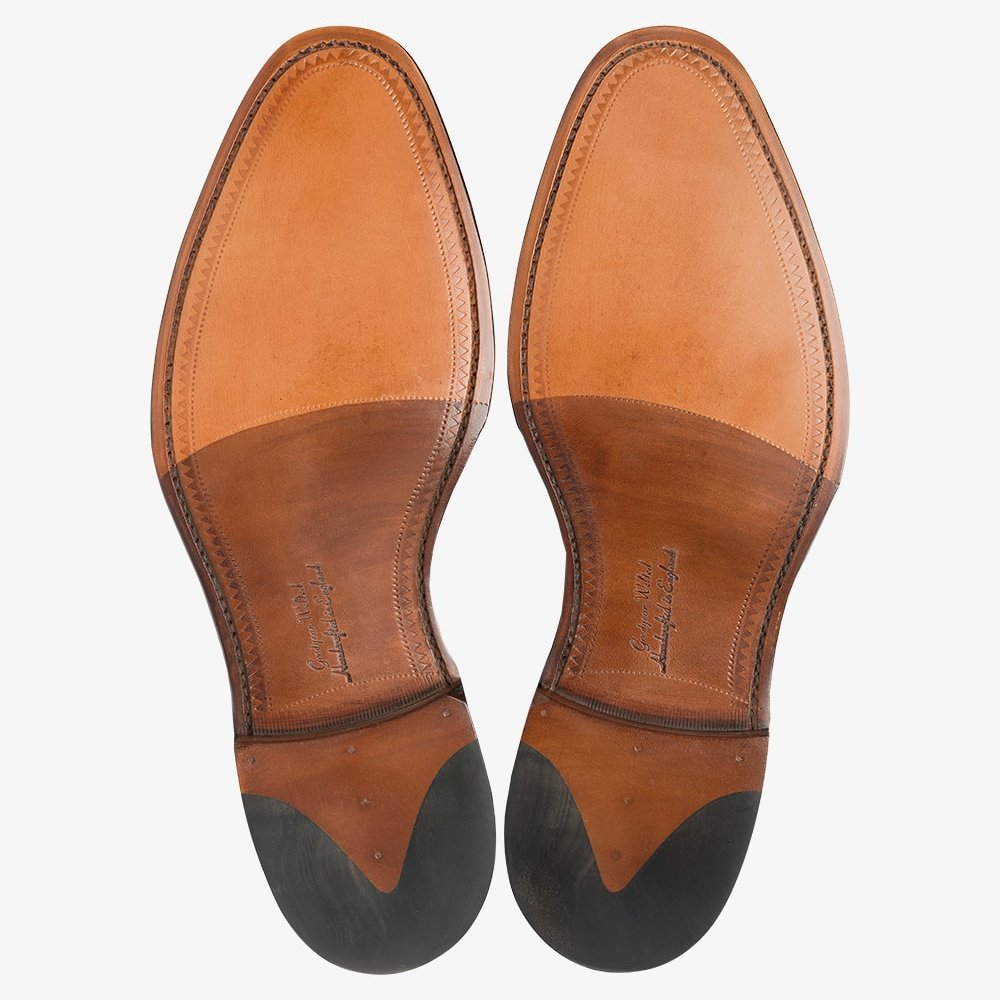 Loake Aldwych dark brown toe cap oxford shoes