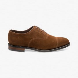 Loake Aldwych suede polo toe cap oxford shoes