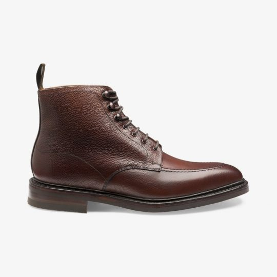 Loake Anglesey oxblood apron toe boots