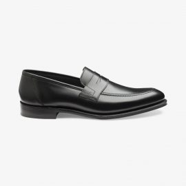 Loake Anson black penny loafers