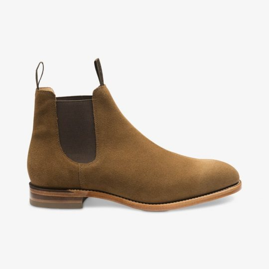 Loake Apsley tobacco suede Chelsea boots