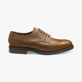 Loake Badminton mahogany brogue derby shoes