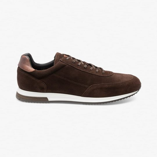 Loake Bannister suede dark brown sneakers