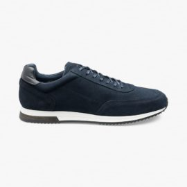 Loake Bannister suede navy sneakers