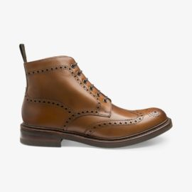 Loake Bedale brown brogue boots