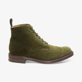 Loake Bedale green brogue boots