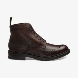 Loake Bedale oxblood brogue boots
