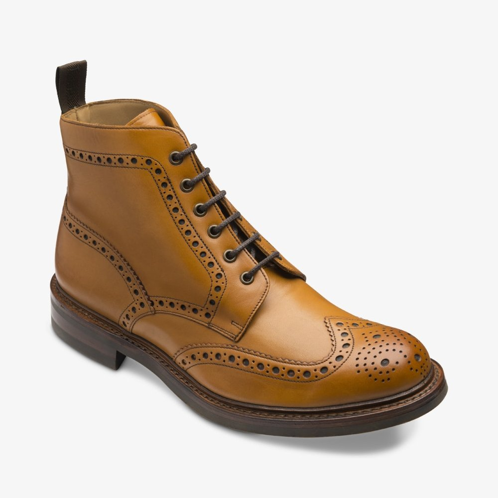 Loake Bedale tan brogue boots