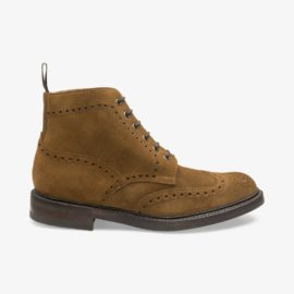 Loake Bedale tobacco brogue boots