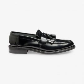 Loake Brighton black kiltie tassel loafers