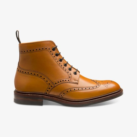 Burford tan brogue boots