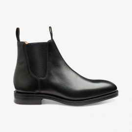 Loake Chatsworth leather black Chelsea boots