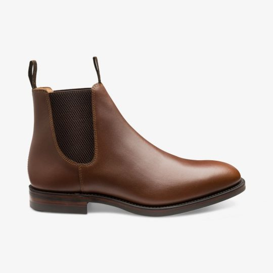 Loake Chatsworth leather brown Chelsea boots