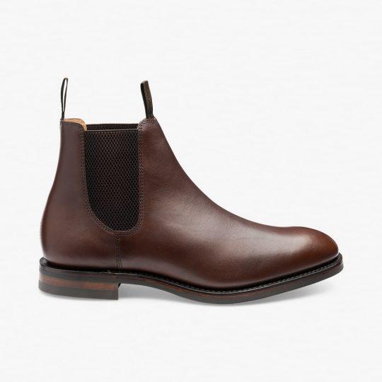 Loake Chatsworth dark brown Chelsea boots