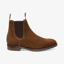 Loake Chatsworth suede brown Chelsea boots