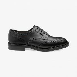Loake Chester black brogue derby shoes