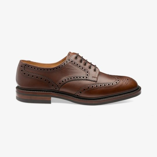 Loake Chester brown brogue derby shoes