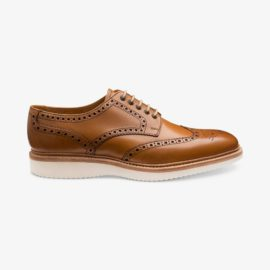 Loake Cobra tan brogue derby shoes
