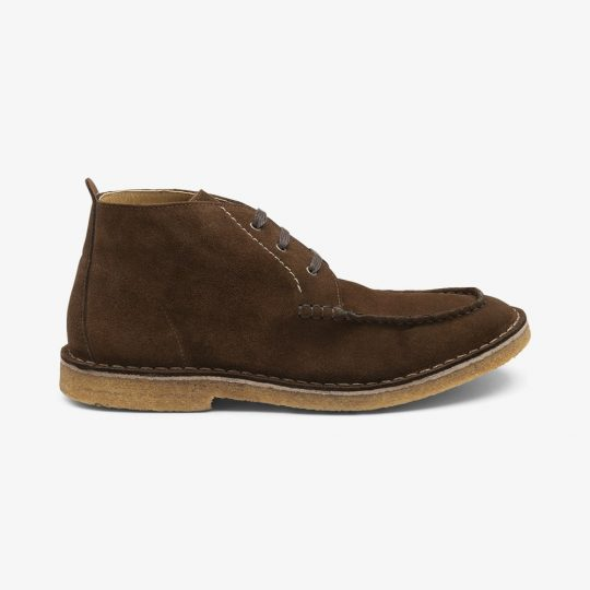 Loake Daniels suede dark brown desert boots