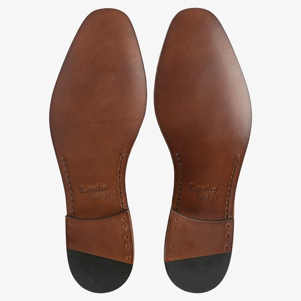 Loake Darwin suede orange penny loafers