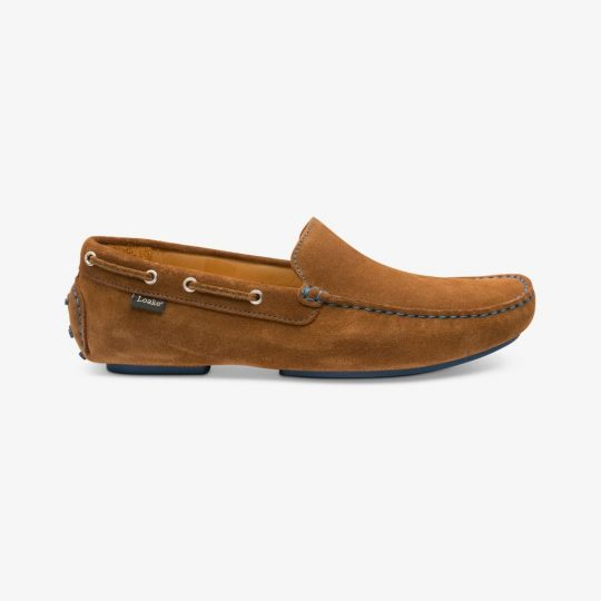 Loake Donington suede tan driving shoes