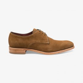 Loake Drake suede brown derby shoes