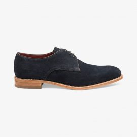 Loake Drake suede navy derby shoes