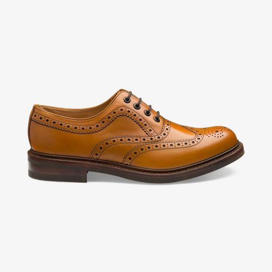 Loake Edward tan brogue oxford shoes