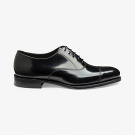 Loake Elgin black toe cap oxford shoes