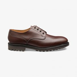 Loake Epsom brown derby shoes