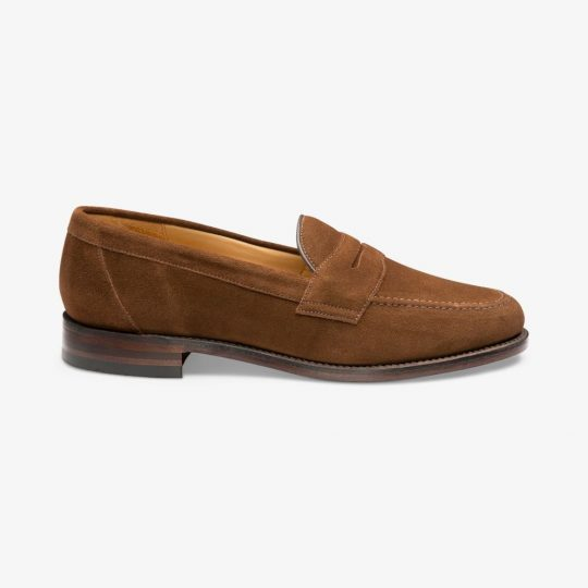 Loake Eton brown penny loafers