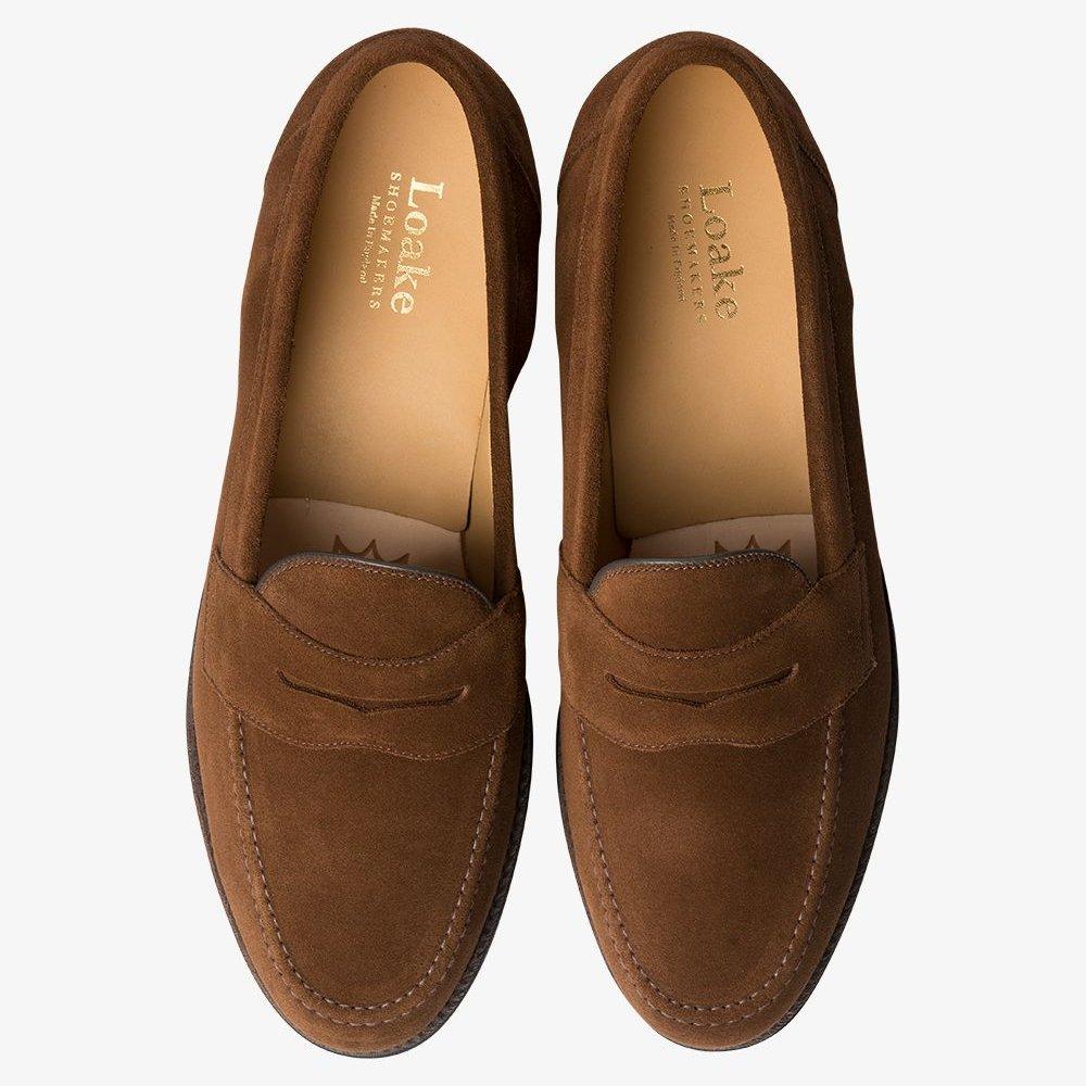 Loake /'Eton/' Brown Suede Loafers UK 8 F