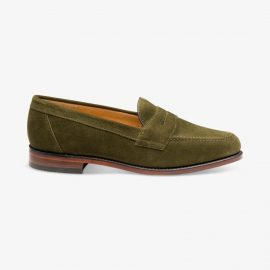 Loake Eton olive penny loafers