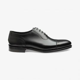 Loake Evans black toe cap oxford shoes